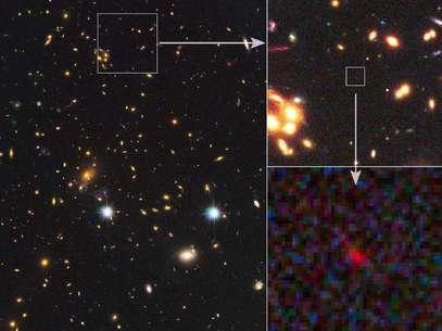 Imagen de la galaxia descubierta Foto: NASA