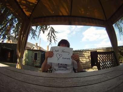 Una muestra de que el amor rompe barreras.  Foto: love9000kmaway.blogspot.com.br