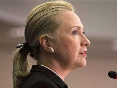 Hillary Clinton habló en Perú sobre el ataque a la embajada de EEUU en Libia. Foto: AP