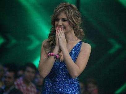 Sara Uribe drante la final de Protagonistas de Nuestra Tele. Foto: David Micolta / Terra