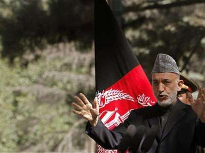 Afghanistan's President Hamid Karzai speaks during a news conference in Kabul October 4, 2012. Foto: Omar Sobhani / Reuters