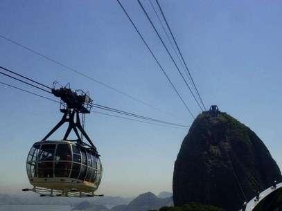 El emblemático funicular que llega hasta la cima del 'Pan de Azúcar' cumplió 100 años. Foto: AP