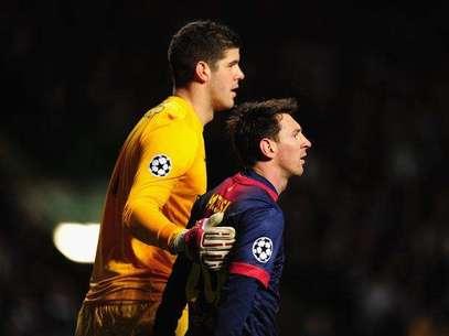 Vilanova afirmó que el arquero Forster fue el mejor del partido Foto: Getty Images