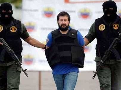 Barrera, a quien el Gobierno considera el último gran capo del narcotráfico, fue trasladado desde Caracas en un avión de la Policía Nacional. Foto: AFP