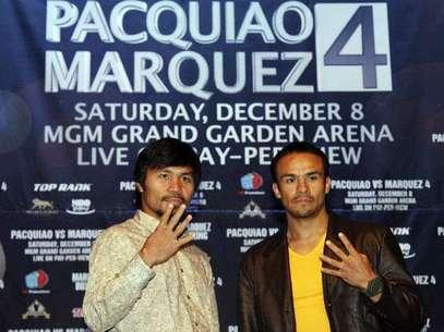 Pacquiao y Márquez pelearán el próximo 8 de diciembre. Foto: AP