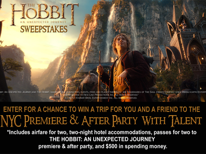 Win a trip to The Hobbit premiere and after party. Foto: Warner Bros