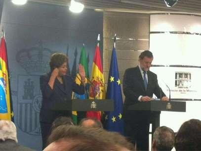 Dilma Rousseff y Mariano Rajoy, durante su comparecencia Foto: Gala Díaz