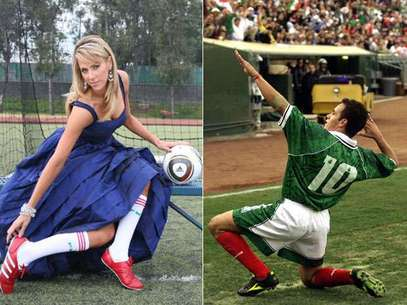Ines Sainz and Cuauhtemoc Blanco are the newest members of the Terra Sports team.  Foto: Terra