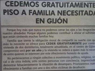 Imagen del anuncio publicado en un medio de comunicación asturiano Foto: Twitter
