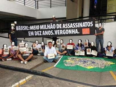 Los manifestantes protestaron por los altos indices de homicidios en Brasil. Foto: Dassler Marques / Terra