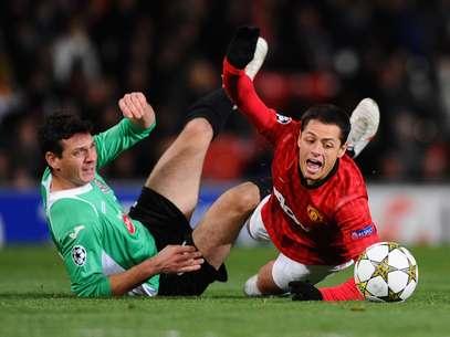 Javier Hernández jugó todo el partido pero se fue en blanco. Foto: Getty Images