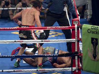 Juan Manuel Marquez shocked the boxing world by knocking out Paquiao in the sixth round.  Foto: Getty Images