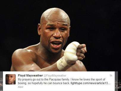Floyd Mayweather tweeted this sympathetic statement about Manny Pacquiao in the wake of his knockout loss to Juan Manuel Marquez Saturday night. Foto: AP in English