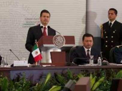 El Presidente Enrique Peña Nieto durante la II Sesión Extraordinaria del Consejo Nacional de Seguridad Pública. Foto: Tomada de Presidencia