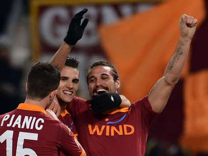 Erik Lamela scored a brace as Roma breezed to a 4-2 victory.  Foto: Getty Images