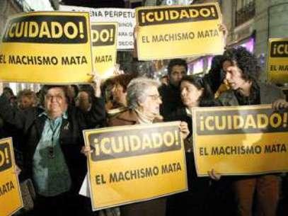 Imagen de una manifestación en Madrid en protesta por la violencia de género Foto: EFE en español