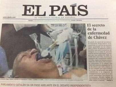 Esta es la portada de El País de este jueves. Más tarde, los directivos del medio retiraron de circulación esta edición y la reemplazaron por una nueva. Foto: Especial