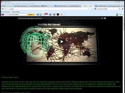 Vista del cibersitio de la Comisión Estadounidense de Sentencia después de ser interferido por el grupo de ciberpiratas Anonymous el 26 de enero del 2013 para vengar la muerte de Aaron Swartz, un activista de Internet que se suicidó  Foto: AP