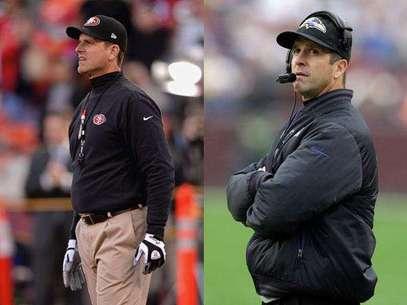 El Super Bowl será un duelo sin precedentes entre dos entrenadores hermanos: John Harbaugh de los Ravens, frente a Jim de los 49ers, monarcas de la Nacional. Foto: AP