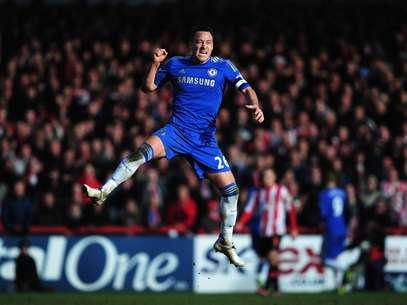 John Terry celebrates Fernando Torres' goal. Foto: Getty