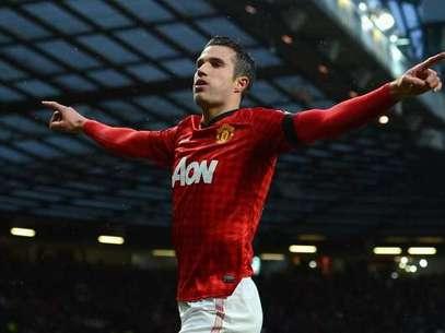 Van Persie selló el triunfo en Old Trafford con un buen gol. Foto: Getty Images