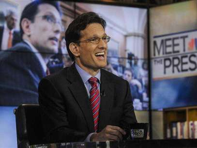"U.S. Rep. Eric Cantor (R-VA) the No. 2 Republican in the House of Representatives, appears on ""Meet the Press"" in Washington, February 10, 2013. Foto: William B / Reuters"