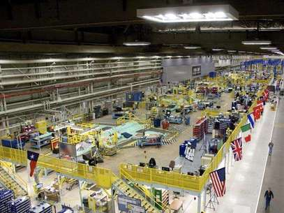 This March 22, 2010 handout image, released May 11, 2011, shows the Lockheed Martin plant in Fort Worth, Texas that builds F-35 fighter jets. Foto: Fred Clingerman-Lockheed Martin / Reuters