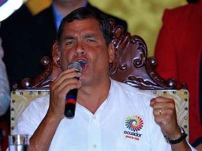 El presidente ecuatoriano, Rafael Correa, era muy amigo de Hugo Chávez. Foto: EFE