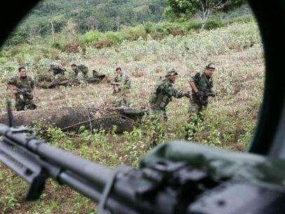 Soldados se encuentran en la zona conocida como Vraen luchando contra el terrorismo. Foto: Andina