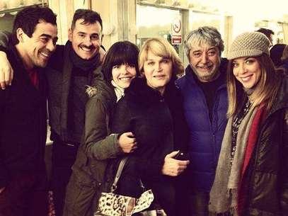 Los actores y la directora de 'La que se avecina'. Foto: Twitter @LauraCaballero_