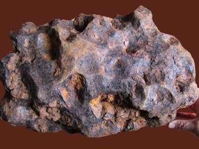Imagen del meteorito Foto: IGEO-IGME