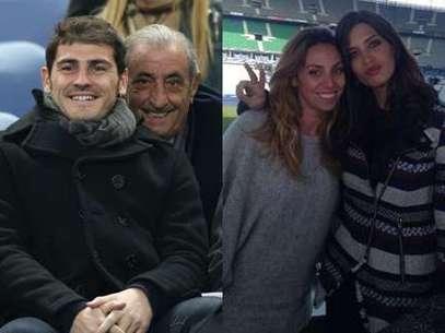 Iker Casillas, Hidalgo y Sara Carbonero Foto: Gtres/Twitter