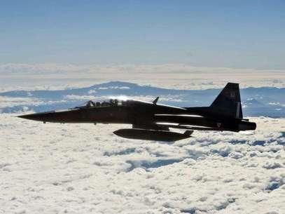 Los F-22, aviones de avanzada que pueden evadir radares, fueron desplegados en la base principal de la Fuerza Aérea de Estados Unidos en Corea del Sur. Foto: Notimex