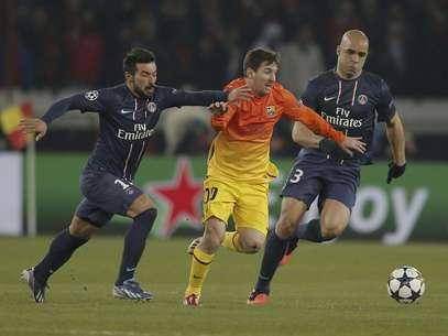 Messi, durante el partido ante el PSG en el que se lesionó Foto: Francois Mori / AP
