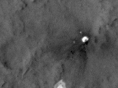 Imagen de los posibles restos de la Mars 3 Foto: NASA