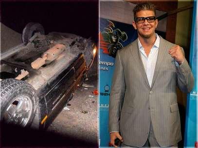 Marco Corleone compartió una foto en Twitter de cómo quedó su camioneta tras el accidente. Foto: Twitter / Medios&Media