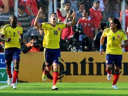 Falcao y James en la Selección Colombia. Foto: Agencias