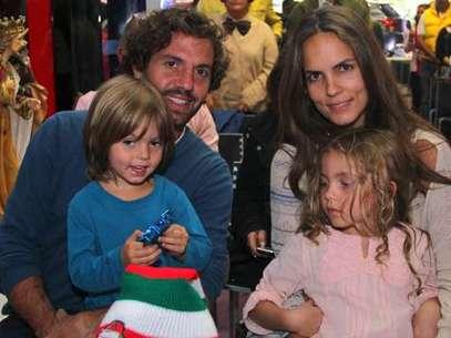 Lucas Jaramillo, Catalina Aristizábal y sus dos hijos Emiliano y Oriana. Foto: Jet-Set