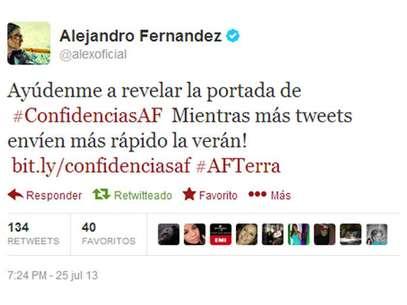 Alejandro Fernández. Foto: Twitter