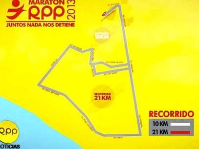 Carrera 'Maratón RPP 2013' mostrará nuevo trazado Foto: Captura de pantalla