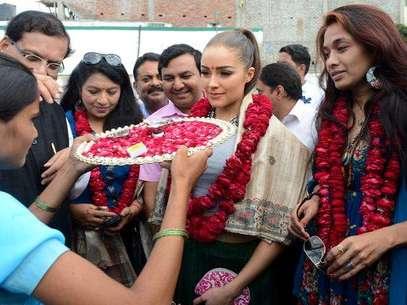 Olivia Culpo en India Foto: missuniverse.com