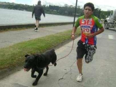 Corrida con mascotas en La Serena. Foto: Gentileza.