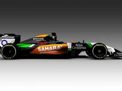 Force India adoptó cortes en negro para elVMJ07, que tendrá como pilotos a Sergio Pérez y Nico Hulkenberg. Foto: Twitter/Force India