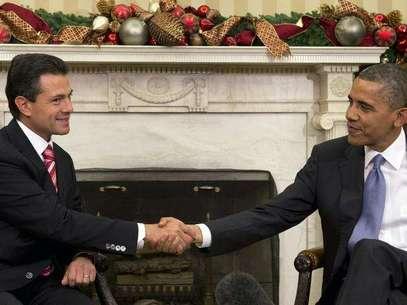 Barack Obama, visitará México por quinta ocasión este 19 de febrero, para participar en la Cumbre de Líderes de América del Norte en la ciudad de Toluca, Estado de México.  Foto: AP