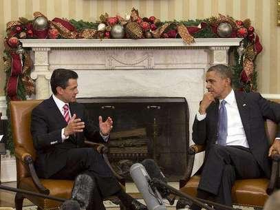 Aunque será su segunda reunión con Peña Nieto como presidente de México, el 27 de noviembre de 2012, Barack Obama recibió en la Casa Blanca a EPN como mandatario electo tras ganar los comicios de julio. Foto: AP