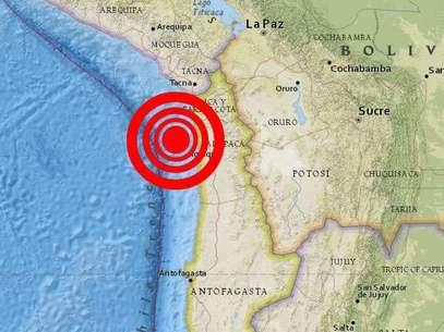 El epicentro del terremoto de 8.2 grados Richter. Foto: Reproducción