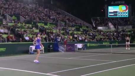 Ana Ivanovic sufre, pero triunfa en inicio de Abierto de Tenis Monterrey Video: