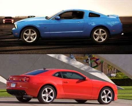 Foto Chevrolet Camaro SS vs. Ford Mustang GT Foto: Chevrolet / Ford / Terra Autos
