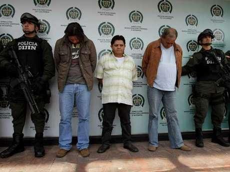 """Los detenidos son Julián Díaz, alias El Caballista, Orlando Rodríguez, 'El Indio' y Argemiro Sierra 'El 'Canoso' """"incluidos en las listas de los más buscados por narcotráfico"""", según la Policía. Foto: EFE"""