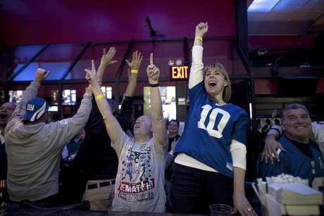 La afición de Gigantes de Nueva York festeja el triunfo de su equipo. Foto: Getty Images